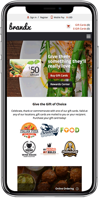 Gift Cards Givex