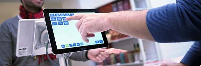 Mobile POS being used in a quick service business